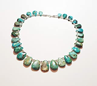 Kingman Turquoise Petal and Sterling Silver Necklace
