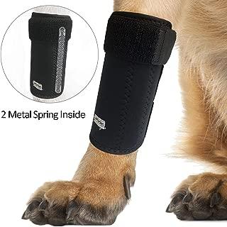 WOVOMO Dog Leg Brace, Pair of Dog Canine Leg Wrap Front Leg Compression Brace with Metal Strips