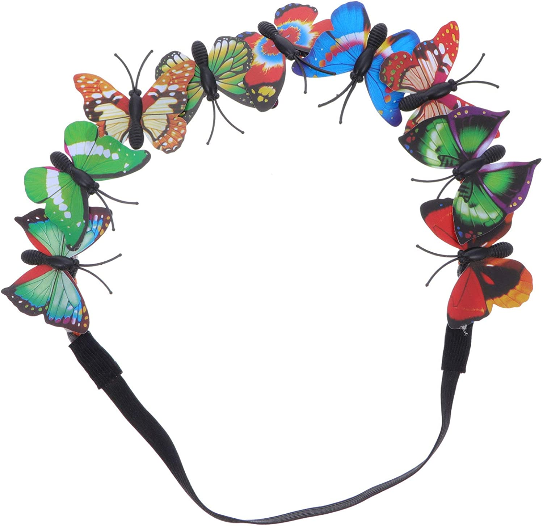 Beaupretty Butterfly Fascinator Hat Derby Fascinators Halo Style Headband Butterfly Headpiece Fairy Photo Prop Hair Accessories Random Color