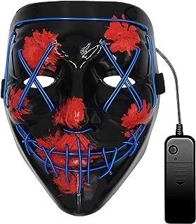 light up blue purge mask