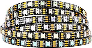 BTF-LIGHTING WS2812b 5m 60leds/Pixels/m Waterproof IP65 Black PCB Flexible Individually Addressable Strip Light Dream Color DC5V 16.4ft