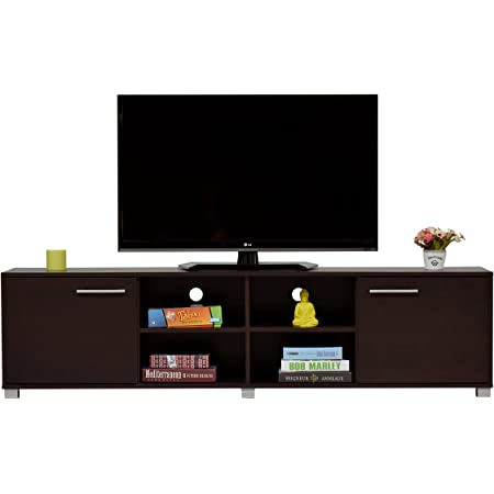 DeckUp Uniti engineered wood TV Entertainment Unit Dark Wenge ,2 Doors
