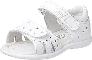 Clarks Girls' Shimmery Fashion Sandals