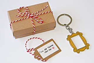 Yellow Frame in Monica's door. Keychain. Including a cute box with a ribbon and a small sign saying: I'll be there for you. Great present for your friends.