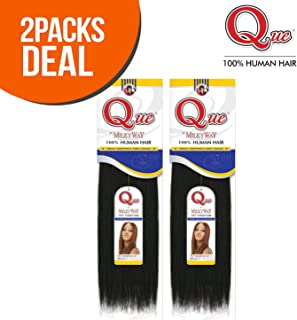 2-PACK DEALS ! Human Hair Weave Milky Way Que Yaky Que (12