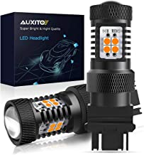 AUXITO Amber Yellow 3056 3057 3156 3157 4157 3030 Chipsets SMD LED Bulbs with Projector for Car Turn Signal Lights, (Pack of 2)