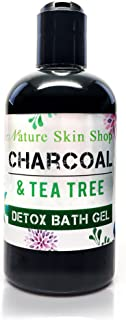 Charcoal & Tea Tree Detox Shower Bath Gel. Made with Organic Plant Based Ingredients. Sulfate Free