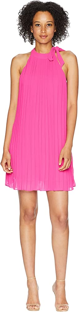 Dana High Neck Accordion Dress