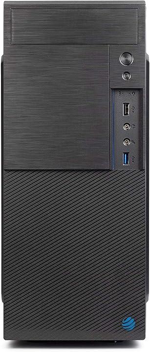 Pc fisso dilc airo intel quad core 1.50 ghz ram ddr4 8 gb ssd 480 gb wifi masterizzatore licenza windows 10pro IT EZ LRL Watch 0203 330