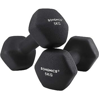 diMio - Mancuernas de vinilo 0,5-6 kg en pack doble, agarre suave ...