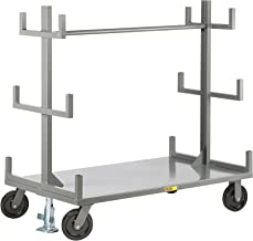Little Giant BRT3648-2R8PHFL Portable Bar & Pipe Truck, 2 Rigid, and 2 Swivel Casters with Floor Lock, 48