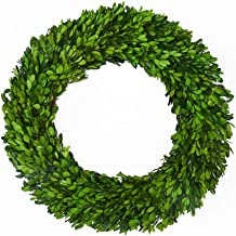 Boxwood Wreath 17 inch Preserved Nature Boxwood Wreath Home Decor Stay Fresh for Years