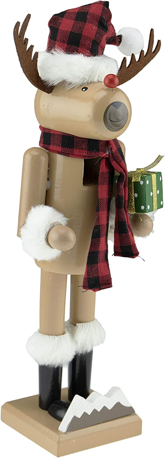 Clever Creations Red Nosed Reindeer Traditional N Purchase Inch Wooden 100% quality warranty! 14