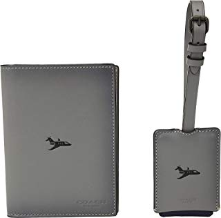COACH Mens Boxed Passport Case and Luggage Tag Featuring Motif
