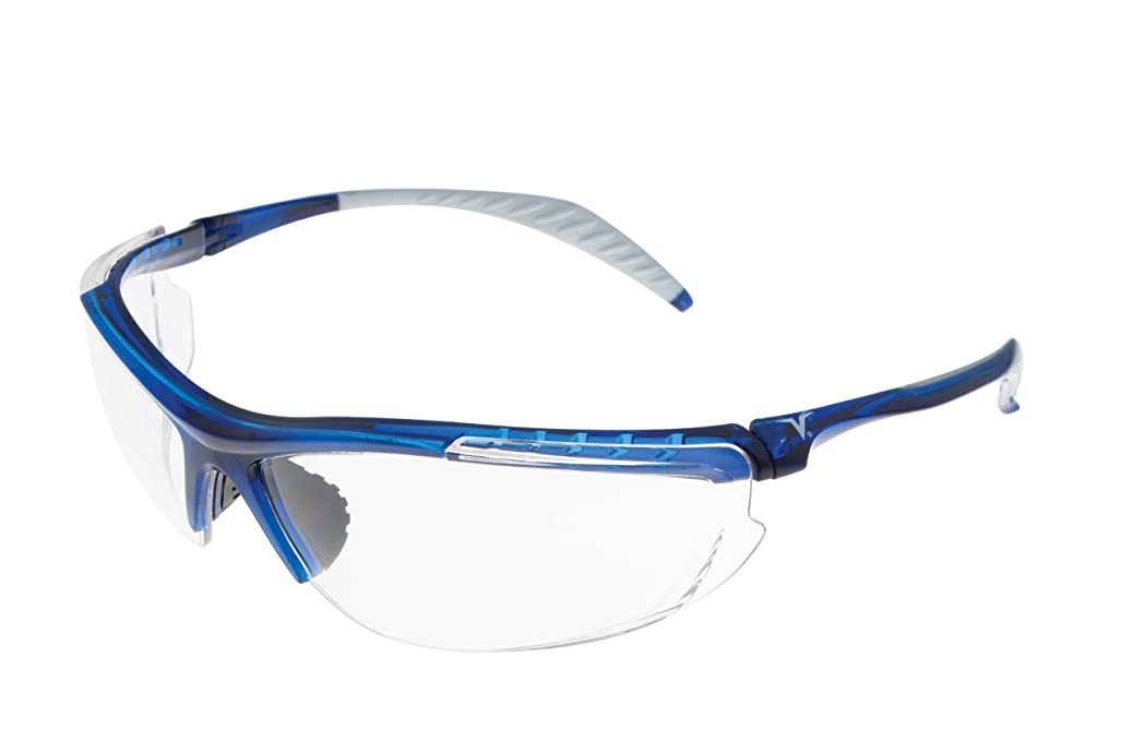 Encon Wraparound Veratti 307 Safety Glasses, Clear Lens, Translucent Blue Frame (Pack of 1) x684114250539