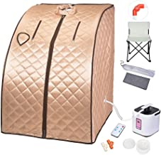 AW 2L Portable Steam Sauna Spa Full Body Sauna Tent Slim Weight Loss Detox Therapy Home..