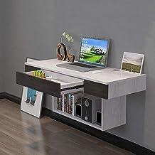 Drijvende plank Wandgemonteerde tafel met opbergplanken Computer tafel muur laptop bureau schrijfbureau thuiskantoor multi...