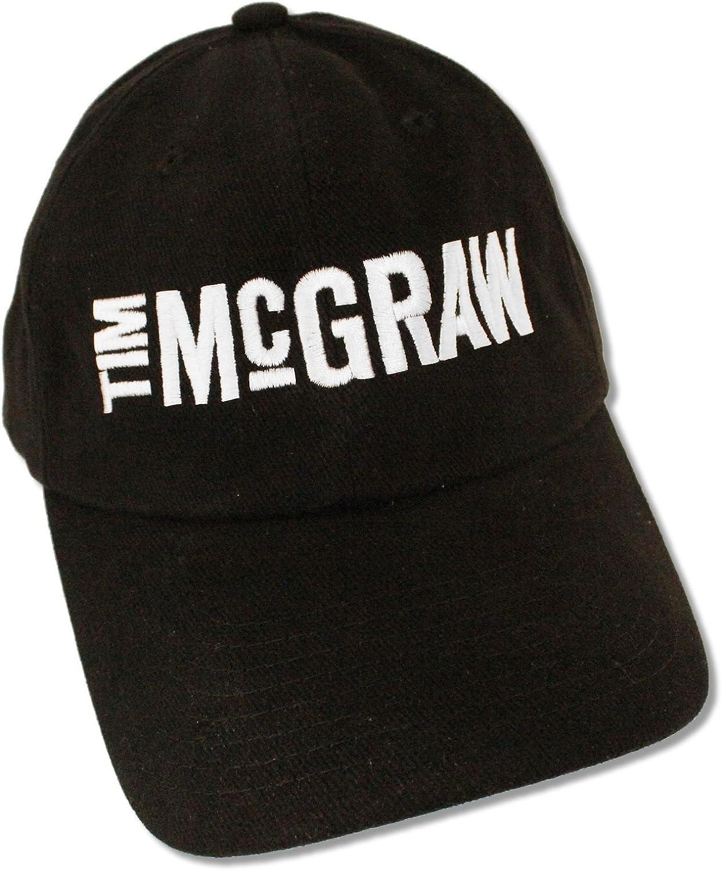 Nissin Tim McGraw Logo Black Baseball Cap Hat