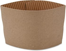 Genuine Joe GJO19049CT Protective Corrugated Cup Sleeve, Brown (20 x Pack of 50)