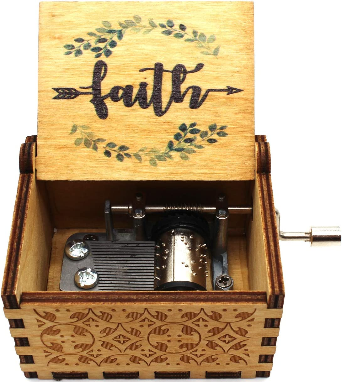 Lastsummer Directly managed store Amazing Grace Music Box Gift for Baptism – Christian Our shop most popular