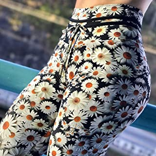 FANGNVREN Pantalones De Yoga,Las Mujeres Impreso De Flores Pantalones De Yoga Professional Ejecutándose Fitness Gimnasia Deporte Pantalones Pantys Polainas Elástico Apretado Pantalón Leggins Lápiz