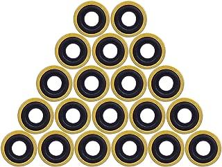 Healvaluefit Oxygen Tank Regulator Brass Yoke Washer O Ring Seals Brass with Rubber - Pack of 30