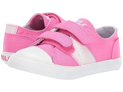 Polo Ralph Lauren Kids Dawsyn EZ (Toddler) (Baja Pink Canvas/Light Pink Ripstop/White Pony) Girl