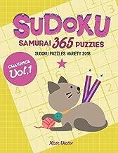 Sudoku Samurai 365 Puzzles challenge Vol.1: Sudoku Puzzles Variety 2018 (Giant Activity Book)