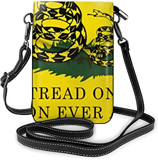 Don't Tread On Me Or My Son Ever Again Snake Leather Mini Crossbody Shoulder Cellphone Purse Pocket For Women Outdoor Hiking Sport Bag