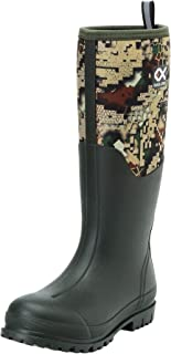 Duck and Fish 16 inches Fishing Hunting Neoprene High Rubber Overlay Molded Outsole Knee Boot