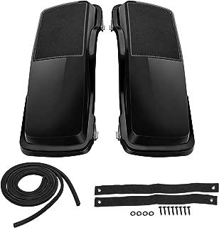 Senkauto Black Saddlebag Single 6x9 Speaker Lids For Harley Bagger Touring 1994-2013