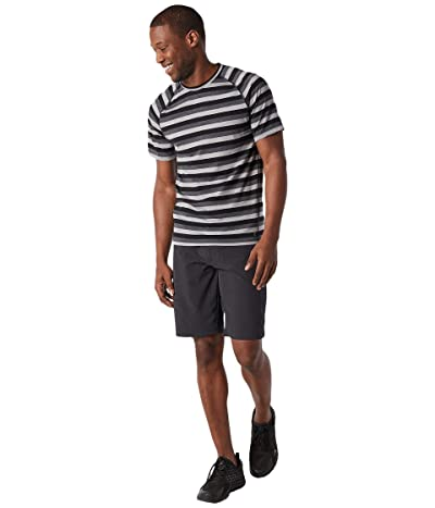 Smartwool Merino 150 Baselayer Short Sleeve (Iron Stripe) Men