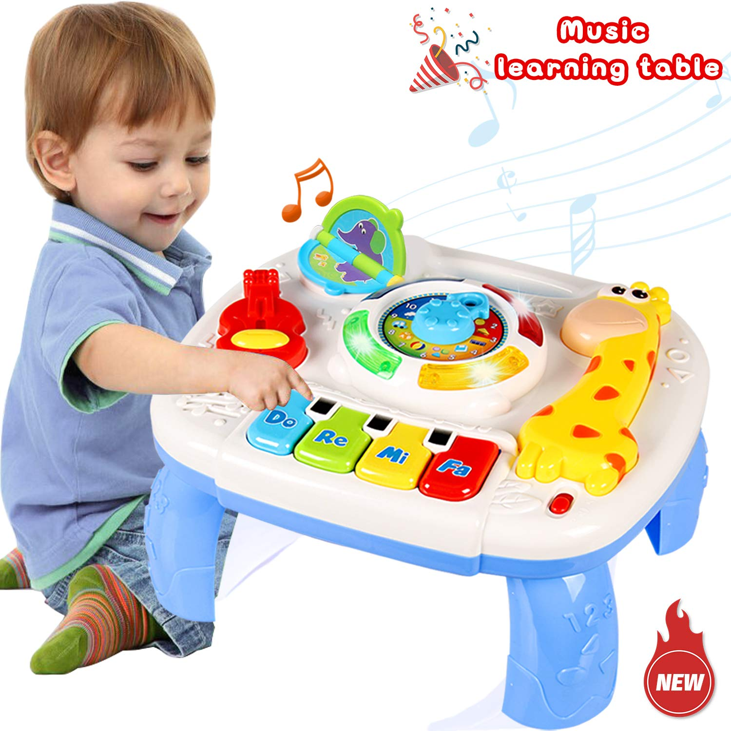 ACTRINIC Musical Learning Table Baby Toys 12-18 Months up ...