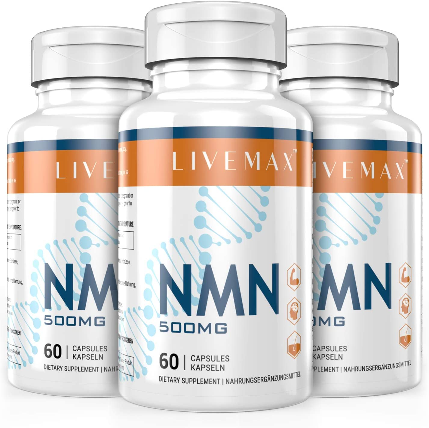 NMN Supplement Popular popular 500mg- Enhance Energy Concentration Impro Boost Fees free!!
