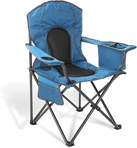high quality ARROWHEAD OUTDOOR Portable Folding Camping Quad Chair w/ 4-Can Cooler, Cup-Holder, Heavy-Duty Carrying new arrival Bag, Padded Armrests, Supports up to high quality 330lbs, USA-Based Support online sale
