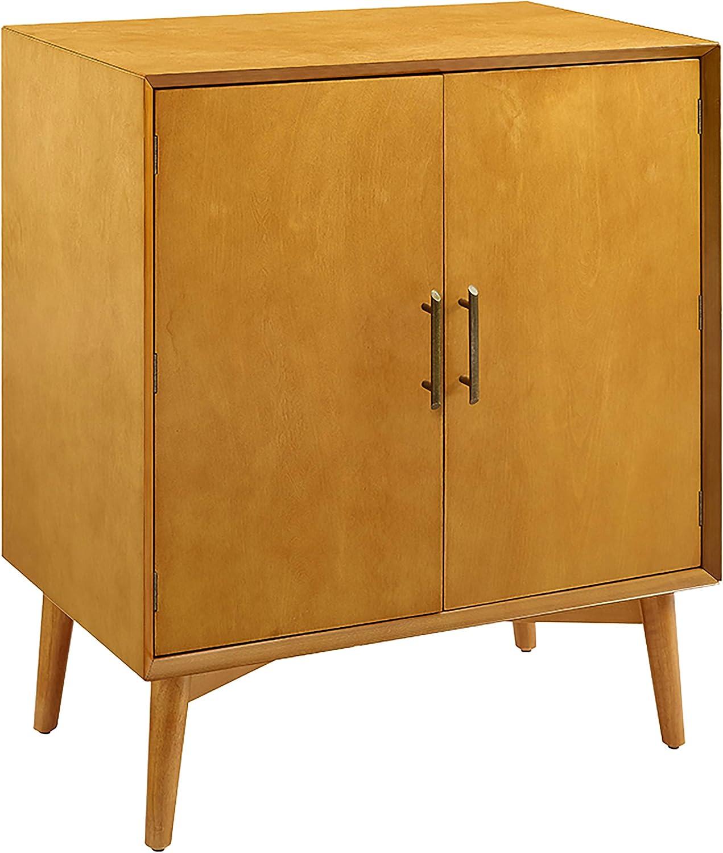 Crosley Furniture Landon Mid Century Modern Bar Cabinet, Acorn