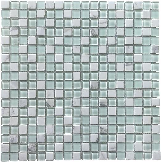 Art3d Glass Tile Stone Mosaic Decorative Wall Tile For Kitchen Backsplash 4 Pack Amazon Com
