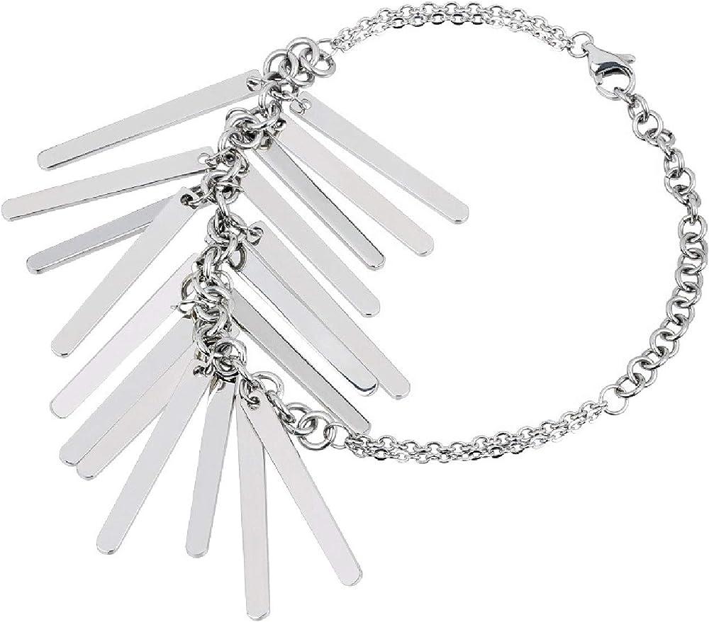 Breil bracciale donna collezione bangs in acciaio lucido TJ2216
