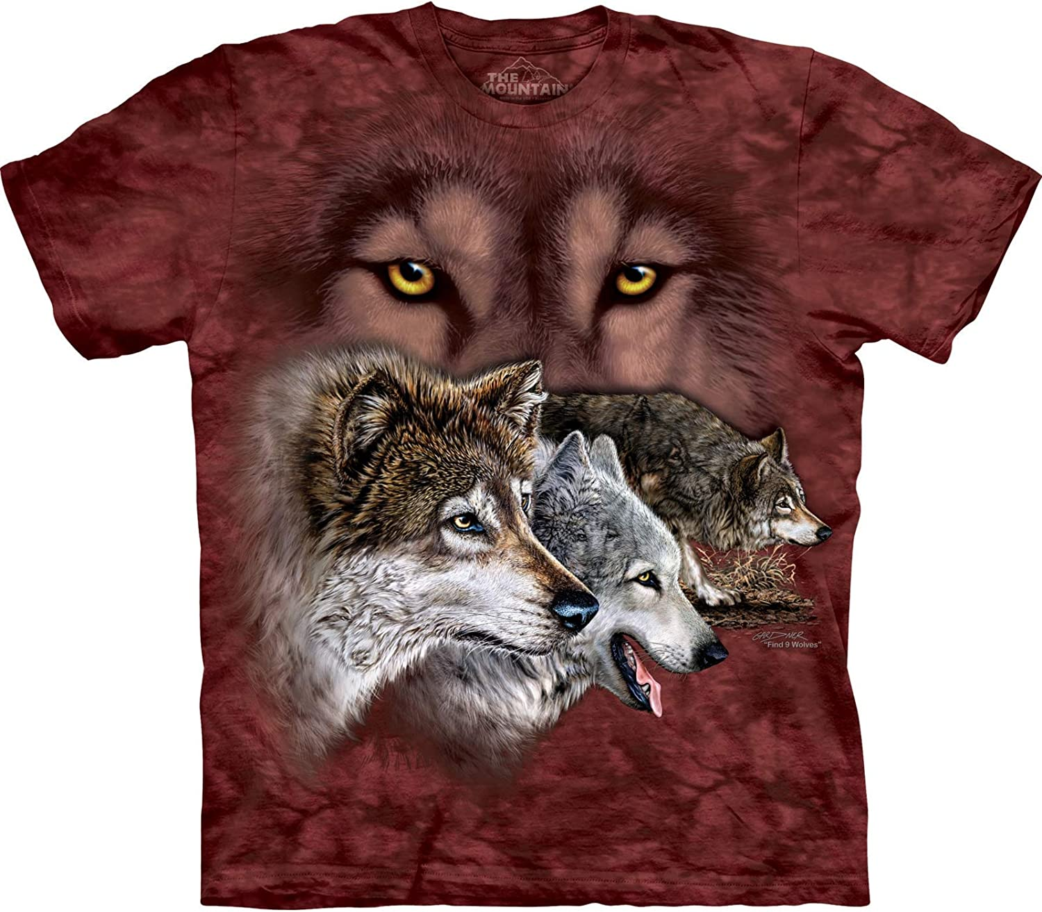 55% OFF The Free shipping on posting reviews Mountain Find 9 Wolves T-Shirt