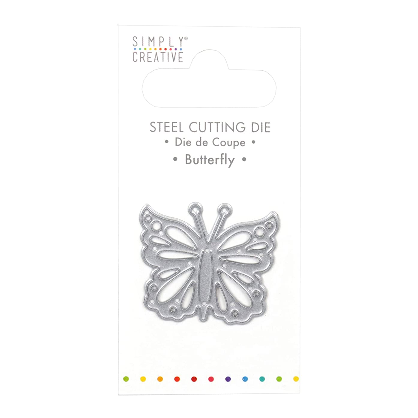 Simply Creative Dies-Butterfly, Silver, 1
