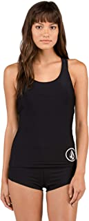 aeda44d9a1 Volcom Women's Plus Size Junior's Simply Solid Racerback Sporty Tankini Top
