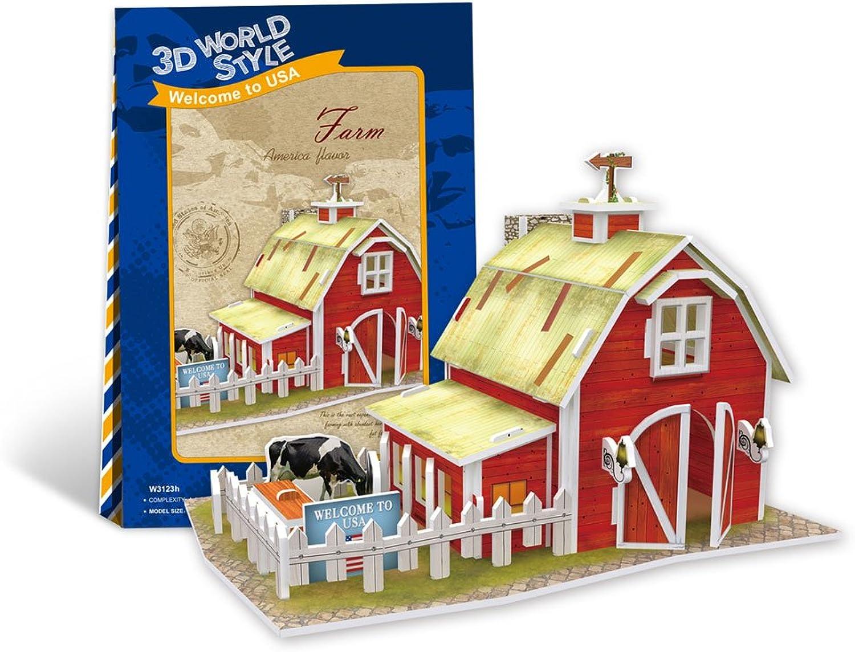 3D threedimensional puzzle 3D World Style Series farm (farm) W3123h