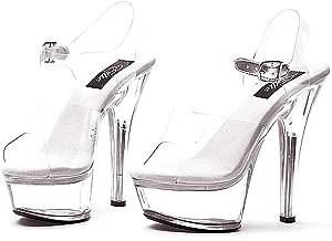 Ellie Brook Womens Clear Open Toe Platform Shoe - Size 10