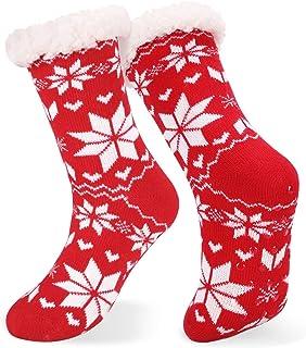 Emooqi, Calcetines de estar por casa, Forro Polar Calcetines Inicio Calcetines Casuales Antideslizantes Calcetines Térmicos Cómodos y Transpirables para el Invierno Uso Diario