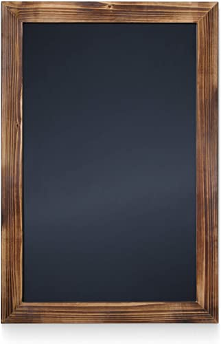 "HBCY Creations Rustic Torched Wood Magnetic Wall Chalkboard, Extra Large Size 20"" X 30"" (51cm x 76cm), Framed Decorat..."