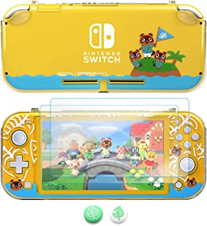 TIKOdirect Protective Crystal Case Compatible with Nintendo Switch Lite, Clear Split Hard Cover with Screen Protector in A...