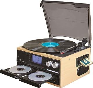 CDコピー機能搭載マルチレコードプレーヤー レコード・カセット・CDをCDへ録音できます