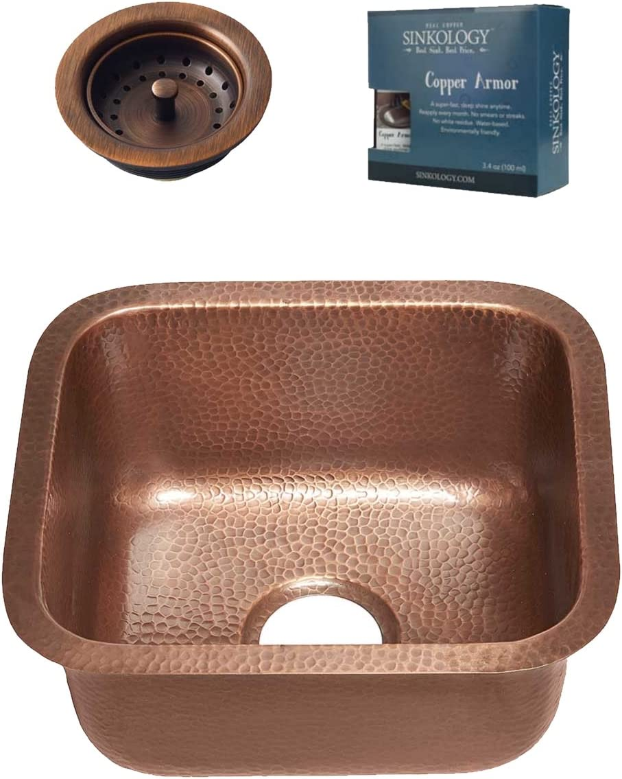 Sinkology 低価格 SP502-17AC-AMZ-B Sisley Undermount Handmade 最安値に挑戦 Si Kitchen