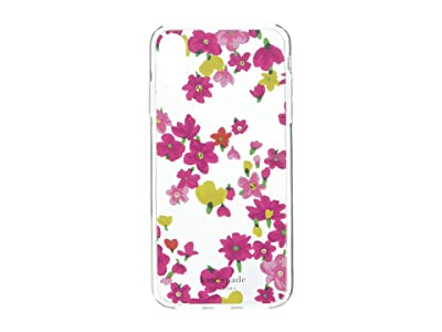 Kate Spade New York Jeweled Marker Floral Phone Case for iPhone X Plus (Clear Multi) Cell Phone Case