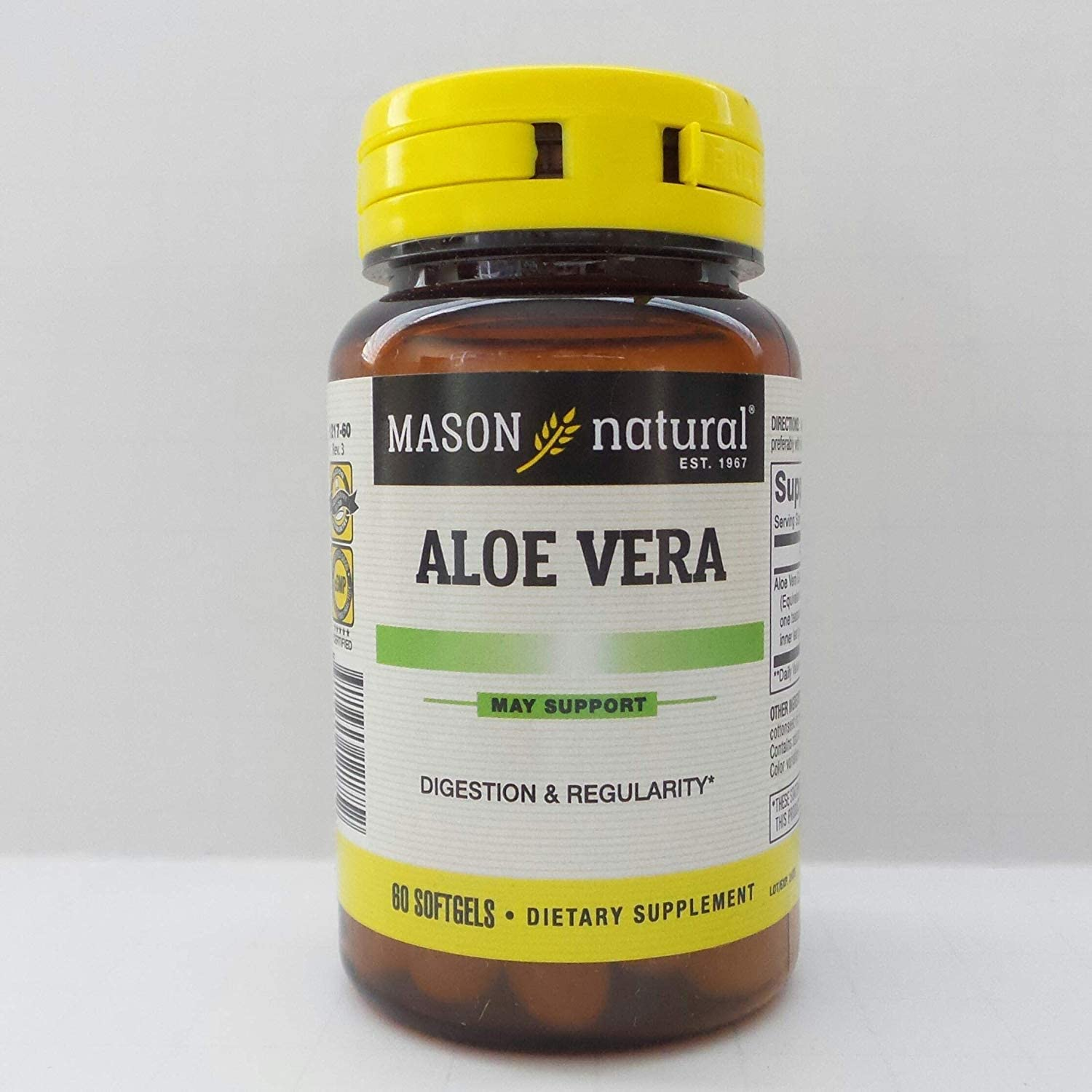 Mason Aloe Vera 5000 Concentrate Bombing free shipping 60 SOFTGELS Large discharge sale